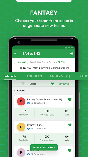FanTips : Prediction Tips Experts for Dream11  screenshots 10