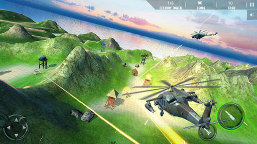 Helicopter Combat Gunship - Helicopter Games 2020 modavailable screenshots 12