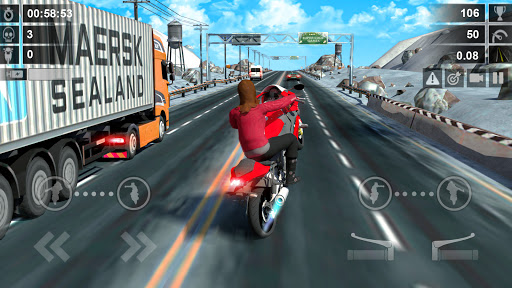 Traffic Racer: Dirt Bike Games apkdebit screenshots 3