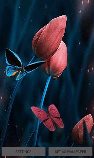 Tulip Flowers Butterfly LWP 3 screenshots 1