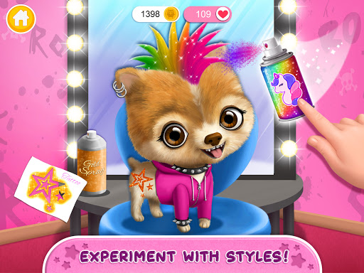 Rock Star Animal Hair Salon - Super Style & Makeup android2mod screenshots 23