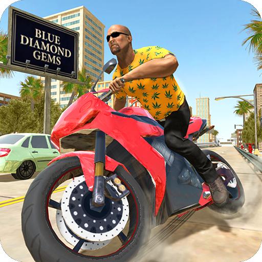 City Traffic Moto Rider Icon