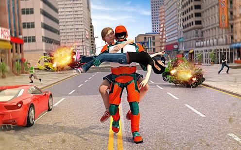 US Light Robot  Speed Hero :City Rescue Mission screenshots 12