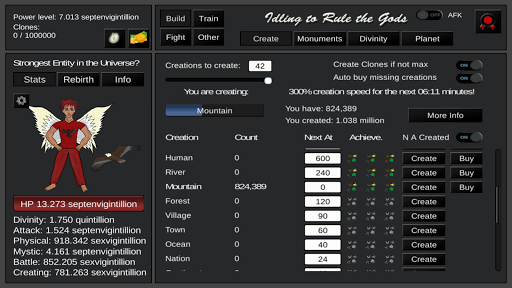 Idling to Rule the Gods 3.43 screenshots 1