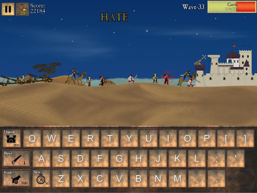 Type Defense - Typing and Writing Game  screenshots 6