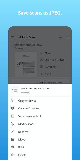 Adobe Scan: PDF Scanner with OCR, PDF Creator  screenshots 2