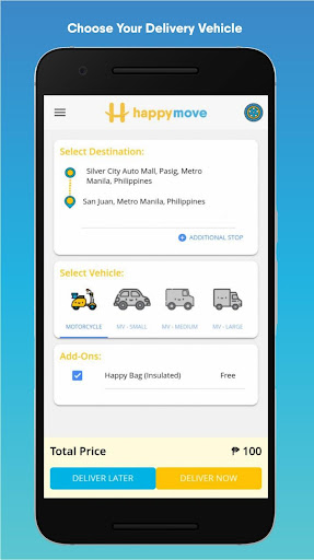 happy move: on-demand delivery from smile to smile screenshot 1