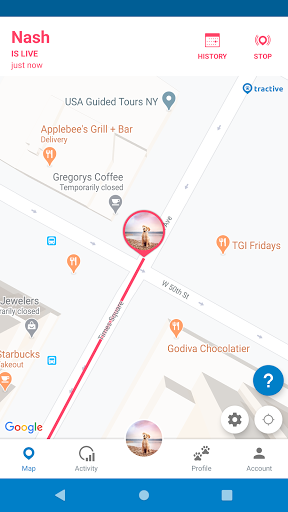 Tractive GPS Dog and Cat Finder 4.9.1 screenshots 1