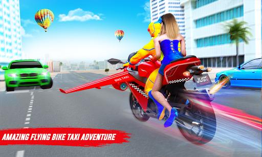 Superhero Flying Bike Taxi Driving Simulator Games 11 Screenshots 1