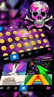 Galaxy Skull Keyboard Theme