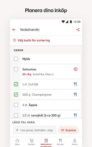 ICA – recept, erbjudanden och inköpslista  screenshots 5