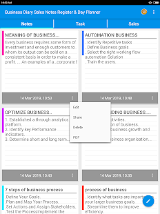 Business Diary Sales Notes Register & Day Planner