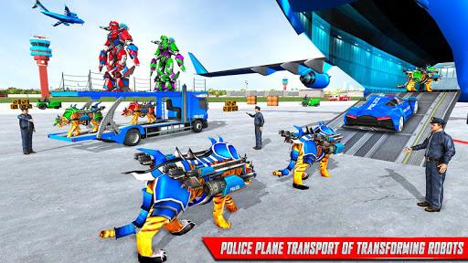 US Police Tiger Robot Game: Police Plane Transport 1.1.9 screenshots 6