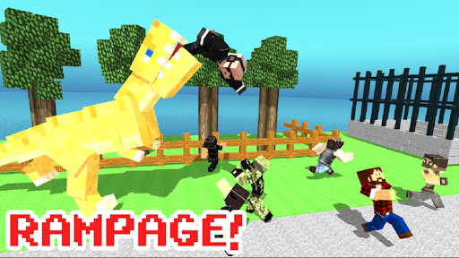 Blocky Dino Park: T-Rex Rampage APK MOD – Pièces de Monnaie Illimitées (Astuce) screenshots hack proof 2