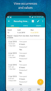 Recurlog: Recurring tasks, chores, Reminders & Log