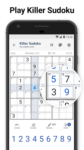 Killer Sudoku by Sudoku.com - Free Number Puzzle modiapk screenshots 1