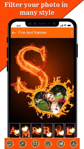 Fire Text Photo Frame u2013 New Fire Photo Editor 2020 1.43 Screenshots 5