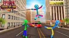 Flying Hero Stickman Rope Hero Grand Crime Cityのおすすめ画像5