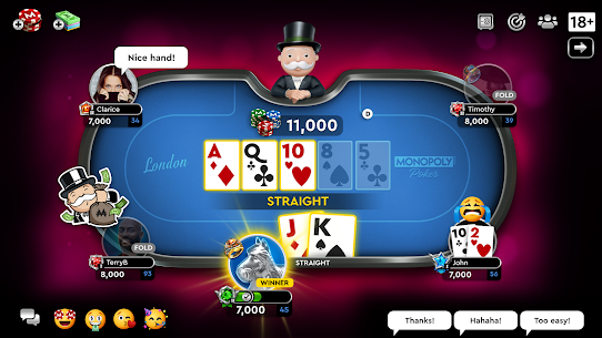 MONOPOLY Poker – The Official Texas Holdem Online Apk Download NEW 2021 3