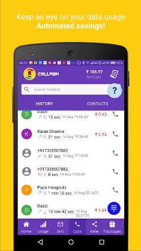 Cell.Fish - Safe SMS, Slick Dialer, Save Money Wiz apktram screenshots 2