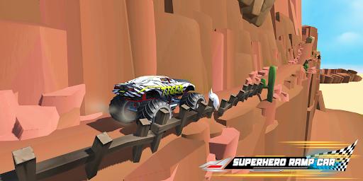 Superhero Mega Ramp Car Stunt - Monster Truck Race  screenshots 21