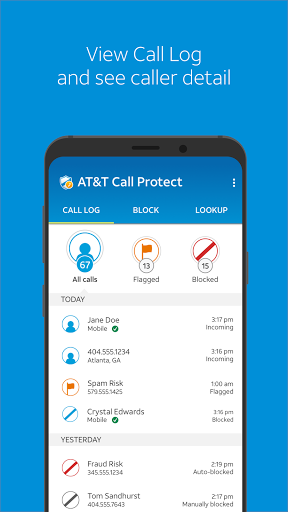 Foto do AT&T Call Protect