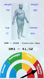BMR / BMI  Calculator Screenshot
