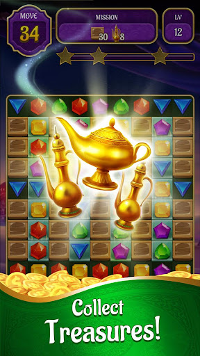 Genies & Gold - Match 3 Jewel & Gem Adventure android2mod screenshots 1