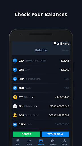 CEX.IO Cryptocurrency Exchange - Buy Bitcoin (BTC)  Screenshots 3