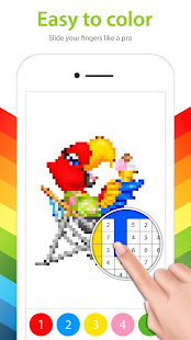 Color by Number – Pixel Art Coloring Book