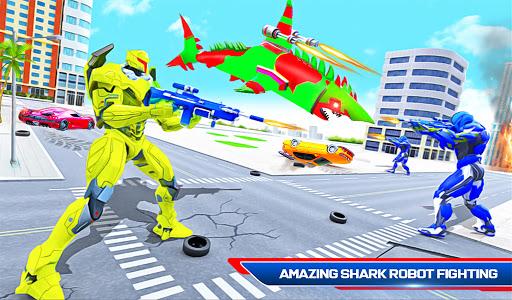 Robot Shark Attack: Transform Robot Shark Games apkpoly screenshots 12