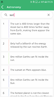 Science Facts collection app!