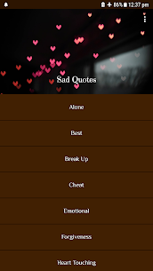 Sad Quotes 1.0 Mod + Apk (New Version) 1
