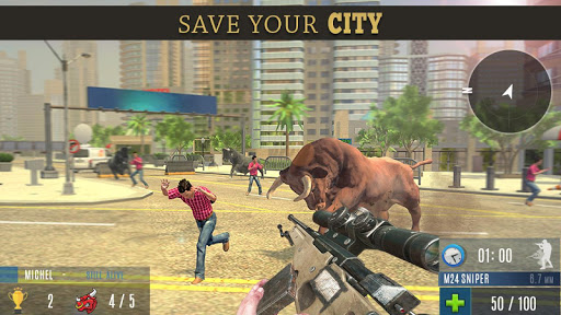 Angry Bull Attack Shooting  screenshots 1