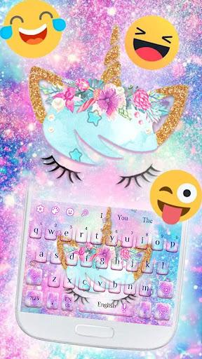 galaxy unicorn keyboard screenshot 3