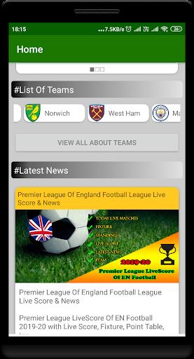 premier league livescore of en football screenshot 2