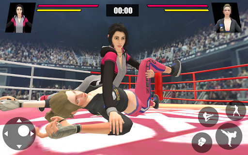 Women Wrestling Ring Battle: Ultimate action pack apkslow screenshots 7