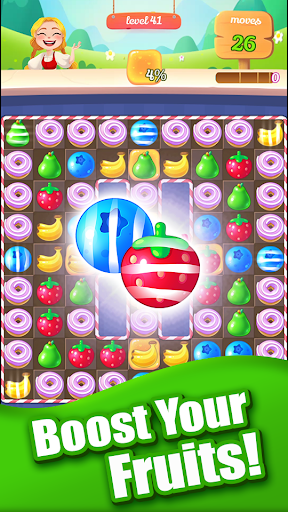 new sweet fruit punch: #1 free puzzle match 3 game screenshot 2