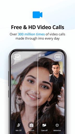 imo free video calls and chat  screen 1