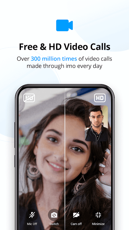 imo free video calls and chat  poster 1