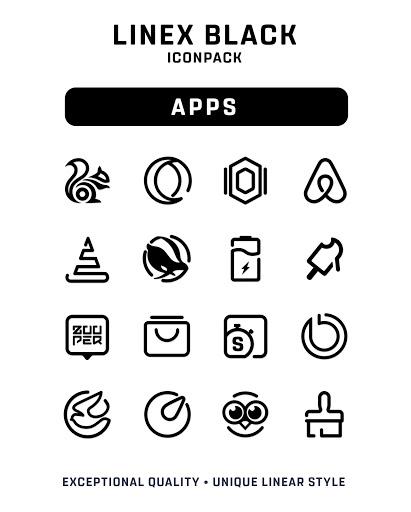Download APK: LineX Black Icon Pack v1.2 [Patched]