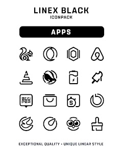 LineX Black Icon Pack 1.3 (Patched)