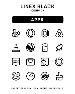 LineX Black Icon Pack Apk 1.1 (Patched) 1