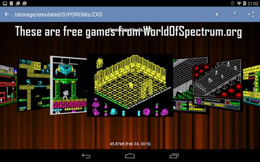 Speccy - Free Sinclair ZX Spectrum Emulator  screenshots 3