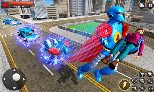 Flying Hero Robot Transform Car: Robot Games Apkfinish screenshots 3