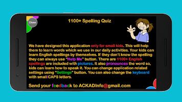 1100+ Spelling Quiz for spelling learning