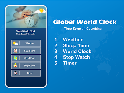 Global World Clock: Time Zone All Countries 1