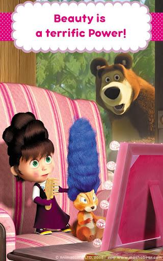 Masha and the Bear: Hair Salon and MakeUp Games apkpoly screenshots 19