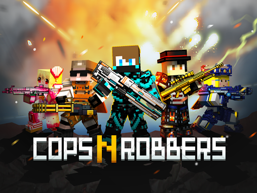 Cops N Robbers - 3D Pixel Craft Gun Shooting Games goodtube screenshots 17