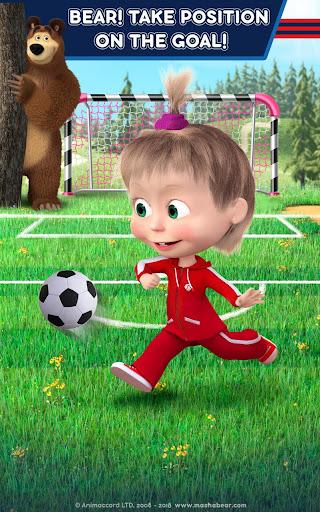Masha and the Bear: Football Games for kids Apkfinish screenshots 16